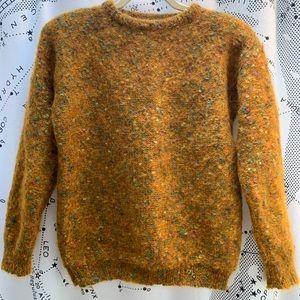 Vintage mustard orange wool sweater size small